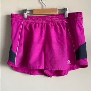 Adidas purple running shorts
